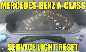 service light on car how to reset service light on mercedes benz a class w168 video