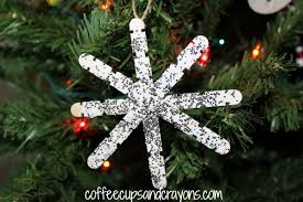 Easy Christmas Tree Decorations Christmas Kids Craft Homemade Snowflake Ornaments Coffee Cups