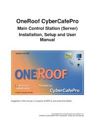 oneroof cyber cafe pro mcs server manual point of sale
