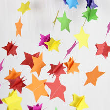 3d rainbow stars paper garland nursery decor baby shower