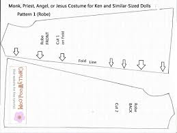 monk priest angel jesus costume pattern for ken doll1 chelly wood