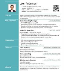 Facebook Resume Template Online Cv Builder With Free Mobile Resume And Qr Code Resume Maker