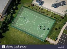 outdoor basketball court aerial view stock photo royalty free