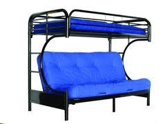 Futon Bunk Bed Plans by Sunrise Twin Over Futon Bunk Bed Black Btofbl Futon Bunk Bed