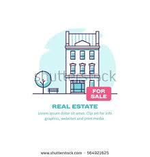 real estate concept house sale vector stock vector 564921625