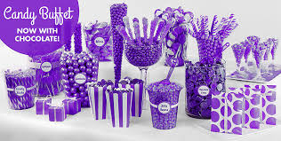 shades of purple baby shower candy station purple candy buffet