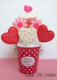 Valentine S Day Sugar Cookies Decorating Ideas by 188 Best Cookie U0027s Bouquet Images On Pinterest Cookie Bouquet