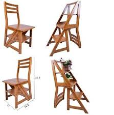 Library Step Stool Chair Combo Step Chair Ebay