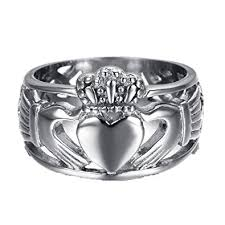 mens claddagh ring hamany jewelry men s stainless steel claddagh ring with celtic