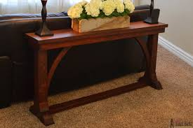Free Diy Table Plans by Narrow Sofa Table Her Tool Belt