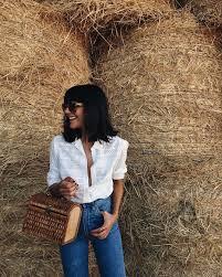 eyelet blouse birkin vibes style pinterest white shirts