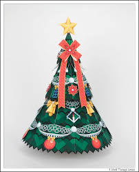 tissue paper christmas tree christmas lights decoration