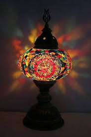 turkish moroccan style mosaic table top lamp hanging swan bed side