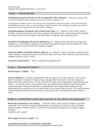 lesson plan fa13 subject verb agreement grammatical number plural