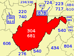 us area codes list wiki area codes 304 and 681