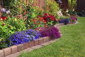 bed garden edging ideas for pleasing pictures of flower bed ideas