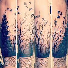 collection of 25 forearm leafless tree tattoos