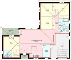 plan de maison avec 4 chambres plan villa plain pied 4 chambres maison garage terrasse carport