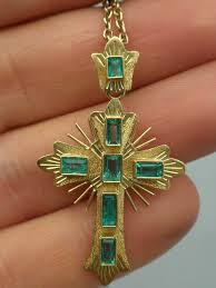 vintage cross necklace images 18k georgian emerald cross necklace 1 250 00 cydneys antiques jpg