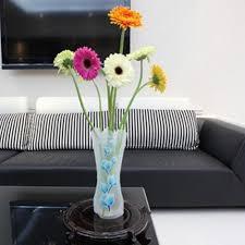 Good Vase 10pcs Lot Plastic Vase Unbreakable Foldable Reusable Flower Home