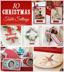 Christmas Table Setting Ideas by Christmas Place Card Ideas A Spoonful Of Sugar