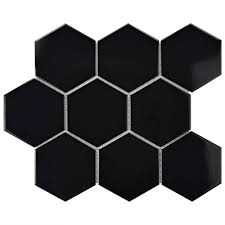Best 10 Black Hexagon Tile by Merola Tile Metro Super Hex Glossy Black 10 7 8 In X 11 3 8 In X