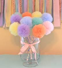 tulle pom pom wands premium pastel rainbow wands fairy