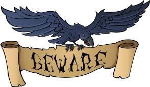 spooky halloween clipart raven beware clipart fort