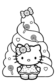 kitty coloring kitty christmas coloring sheets room