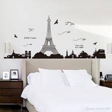 paris eiffel tower night view beautiful romantic simple black diy paris eiffel tower night view beautiful romantic simple black diy wall stickers wallpaper art decor mural room decal removable stickers art decor decals