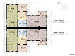 cool three bedroom semi detached house plan contemporary best