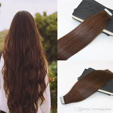 invisible hair in extensions human hair 4 brown 100 skin weft
