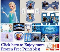 frozen free printable cards party invitations