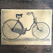 free ship retro movie old bicycle painting prints poster vintage