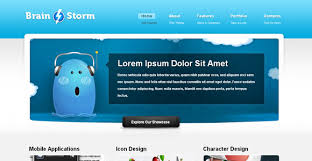 download layout html5 css3 brain storm free corporate template chocotemplates