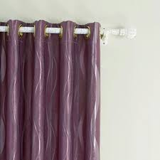 Curtains One Panel Or Two Twopages Long River Jacquard Grommet Top Purple Room Darkening
