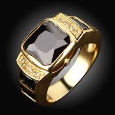 men rings wholesale images Wholesale fashion jewelry new male classic black stone men rings jpg