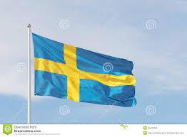 Sweedish Flag Swedish Flag Blue And A Yellow Cross Stock Photo Image 55425354