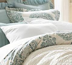 Pottery Barn Alessandra Duvet Lucianna Medallion Sham Standard Blue Duvet Bedrooms And