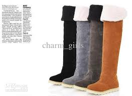 s boots flat s shoes the knee boots suede flat boots boots us5