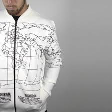 World Map T Shirt by White World Map Bomber Jacket