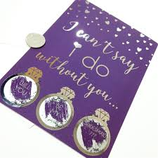 bridesmaid invitations uk purple silver foil will you be my bridesmaid scratch cards