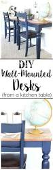 Desk Organizer Lamp Wall Ideas Repurposed Kitchen Table Turned Wall Mounted Desks