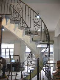 stair alluring home interior design using white curved staircase