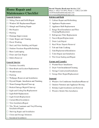 Repair Excel Spreadsheet 6 Impressive Home Remodeling Checklist Excel 06 Home