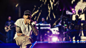 eminem rapping on stage