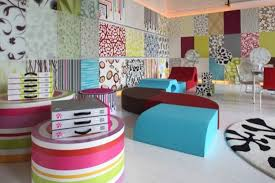interior home wall decoration idea with blue wall sticker and
