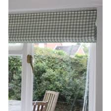 Blind Nil Made To Measure Laura Ashley Green Gingham Roman Blind Several