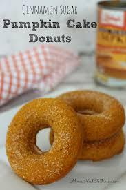 pumpkin cake donuts with cinnamon and sugar moms need to know
