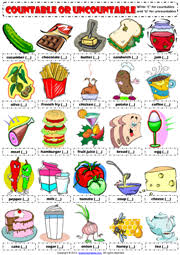 Countable And Uncountable Nouns Practice Pdf Countables And Uncountables Esl Printable Worksheets And Exercises
